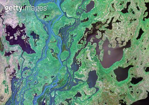 위성사진, 브라질, 습지 - gettyimageskorea