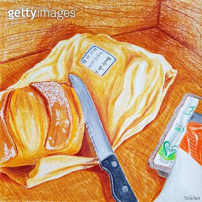 빵과 연어 - gettyimageskorea