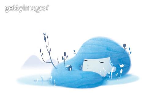 제목 : dream of water (2014년)<br/>소재 : 디지털 일러스트<br/>작품사이즈 : 43x30(㎝)<br/>작품 설명 : 물이 되는 꿈 - gettyimageskorea
