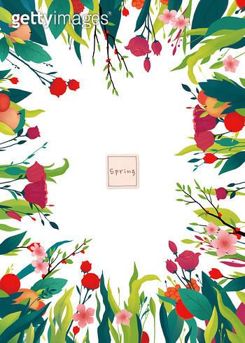 제목 : spring (2014년)<br/>소재 : 디지털 일러스트<br/>작품사이즈 : 45x35(㎝)<br/>작품 설명 : 싱그러움,봄,자연,꽃,과일,녹색 - gettyimageskorea