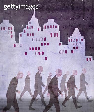 차가운 도시 - gettyimageskorea