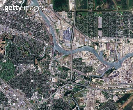 위성사진, 미국, 휴스턴 - gettyimageskorea