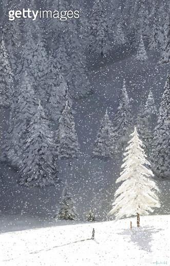 만남,연인,겨울,나무,산,사랑,그리움 - gettyimageskorea