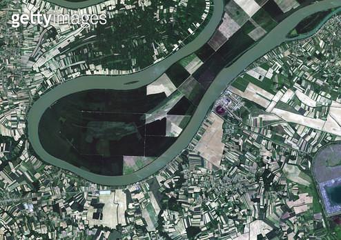 위성사진, 세르비아, 사바 강 - gettyimageskorea