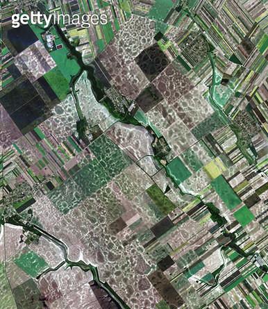 위성사진, 세르비아, 밭 - gettyimageskorea