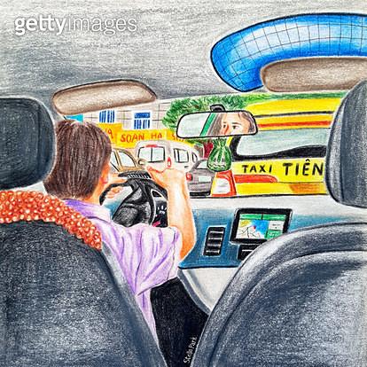 다낭의 택시, 택시 기사 - gettyimageskorea