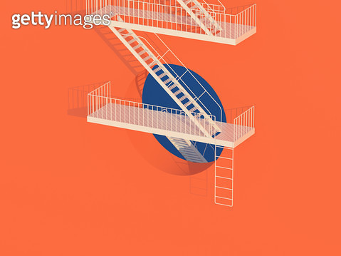 emergency stairs - gettyimageskorea