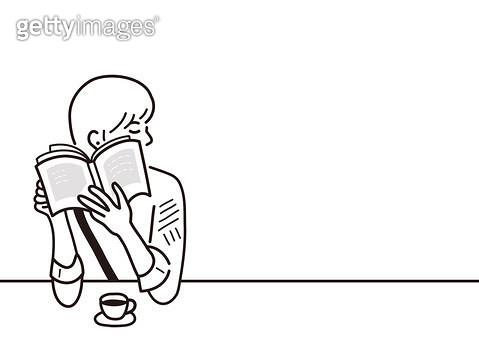 책을 보고 있는 사람 - gettyimageskorea