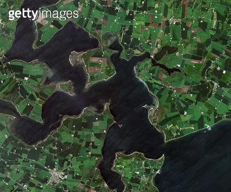 위성사진, 덴마크, 스트루에르 - gettyimageskorea