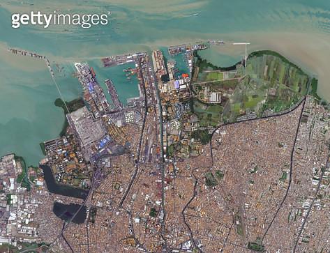 위성사진, 인도네시아, 수라바야 - gettyimageskorea