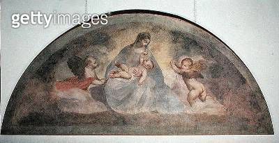 <b>Title</b> : Virgin and Child with Two Cherubs (fresco)Additional InfoVierge a l'Enfant avec Deux Angelots;<br><b>Medium</b> : fresco<br><b>Location</b> : Palazzo Ducale, Venice, Italy<br> - gettyimageskorea