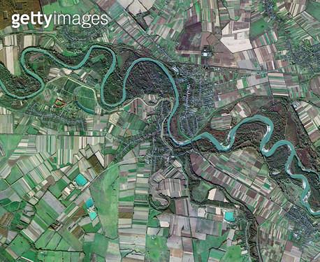 위성사진, 우크라이나, 자카르파탸 주, 뷔록 - gettyimageskorea