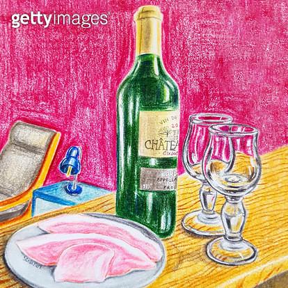 햄과 와인 - gettyimageskorea