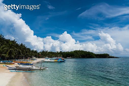 땀비산 비치변(Tambisaan Beach), 필리핀 보라카이(Philippines Boracay) - gettyimageskorea