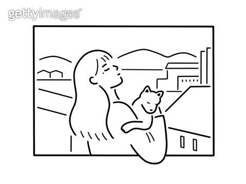 고양이와 있는 사람 - gettyimageskorea