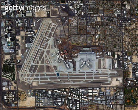 위성사진, 미국, 라스베이거스 - gettyimageskorea