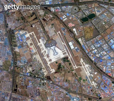 위성사진, 중국, 톈진 - gettyimageskorea