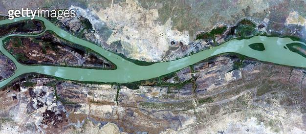 위성사진, 감비아, 감비아 강, 아프리카 - gettyimageskorea