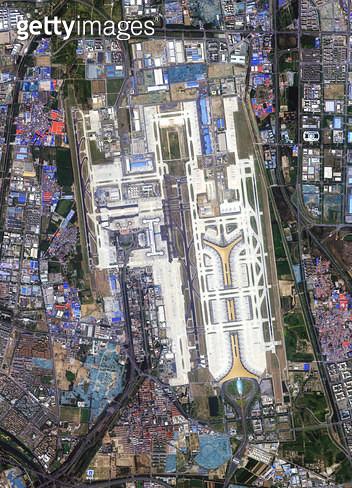 위성사진, 중국, 베이징 - gettyimageskorea