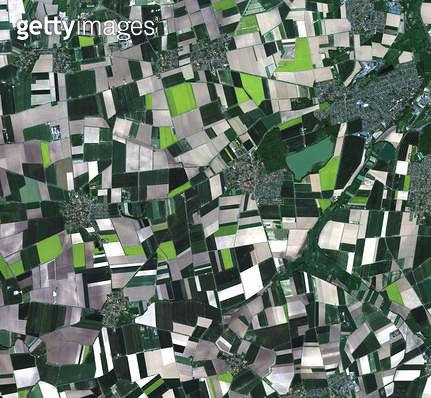 위성사진, 독일, 하노버 - gettyimageskorea