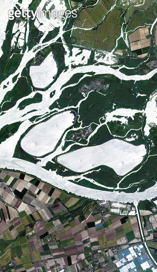 위성사진, 네덜란드, 국립공원, 노르트브라반트, 드림멜렌 - gettyimageskorea