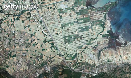 위성사진, 그리스, 테르모필레 - gettyimageskorea