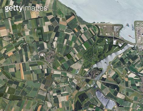 위성사진, 네덜란드, 비어플릿 - gettyimageskorea
