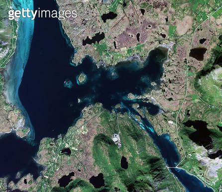 위성사진, 스웨덴, 우메아 - gettyimageskorea