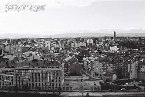 스페인,카미노,콤포스텔라,걷기,필름,여행,배낭여행,도시,풍경,건물 - gettyimageskorea