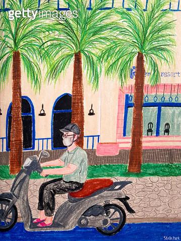 베트남의 거리 - gettyimageskorea