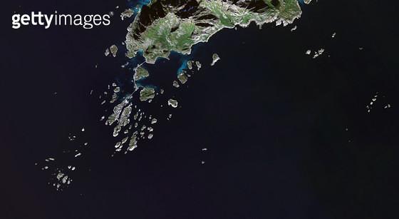 위성사진, 노르웨이, 스볼베르 - gettyimageskorea