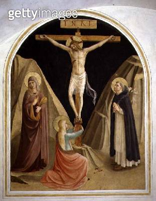 <b>Title</b> : Crucifixion with St. Dominic, from cell 25 (fresco)<br><b>Medium</b> : fresco<br><b>Location</b> : Museo di San Marco dell'Angelico, Florence, Italy<br> - gettyimageskorea