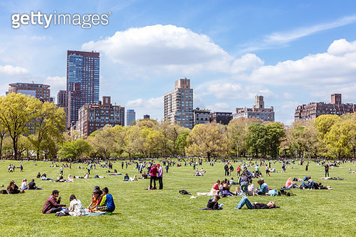 Central Park in springtime, New York city, USA - gettyimageskorea