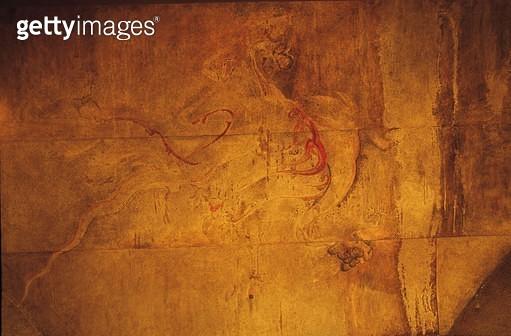 북한 고구려삼묘리큰무덤 안칸벽화의 일부 - gettyimageskorea