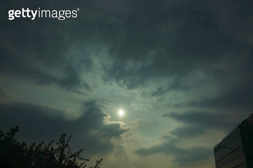 하늘,구름,천지창조,개벽,빛내림 - gettyimageskorea