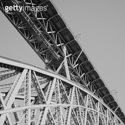 포르투칼,포르투,풍경,자연,건물,다리,구조,흑백,패턴 - gettyimageskorea