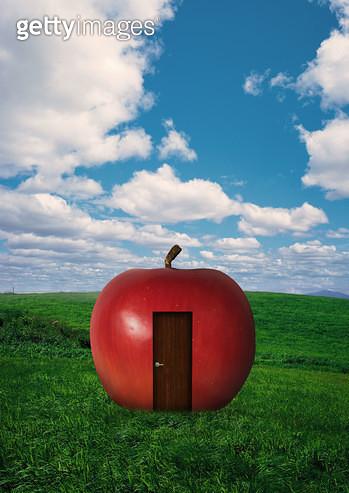 사과로 만든 집 - gettyimageskorea
