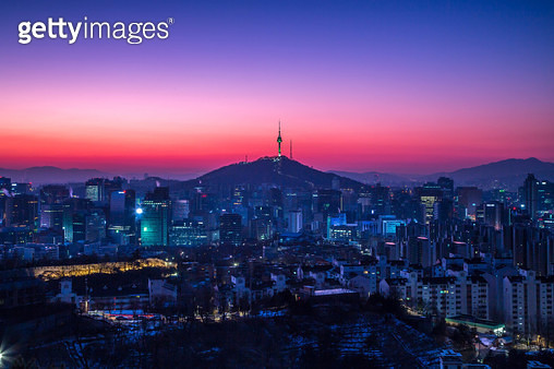 First sunrise of Seoul 2018 - gettyimageskorea