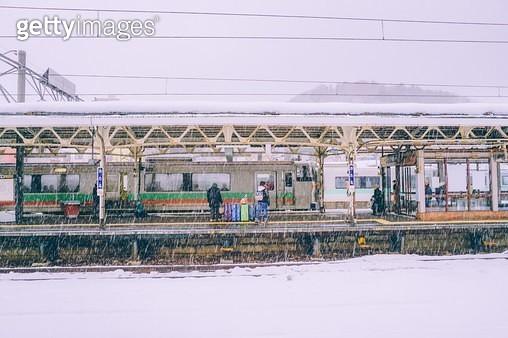 오타루,기차역 - gettyimageskorea
