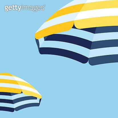 Parasol Beach Umbrella Background - gettyimageskorea