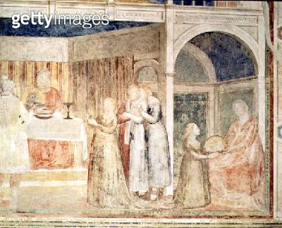 Herod's Banquet/ detail of Salome/ from the Peruzzi chapel (fresco) (detail of 63332) - gettyimageskorea