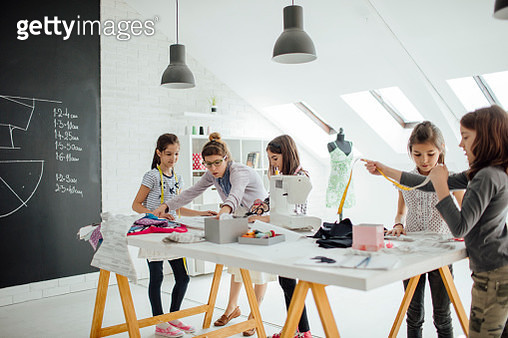 Sewing class for kids. - gettyimageskorea
