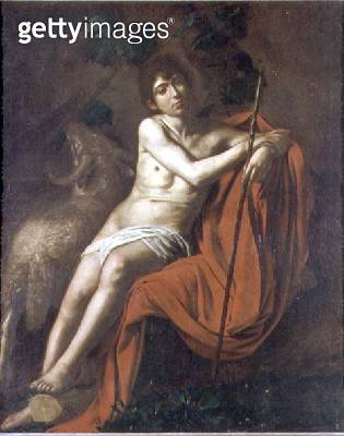 <b>Title</b> : St. John the Baptist in the Wilderness, c.1610 (oil on canvas)<br><b>Medium</b> : oil on canvas<br><b>Location</b> : Galleria Borghese, Rome, Italy<br> - gettyimageskorea