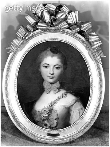 <b>Title</b> : Portrait of Louise Honorine Crozat du Chatel (b.1737) Duchess of Choiseul (oil on canvas) (b/w photo)<br><b>Medium</b> : oil on canvas<br><b>Location</b> : Private Collection<br> - gettyimageskorea