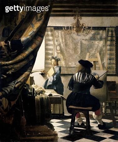 The Painter in his studio, 1665/6 (for detail see 70745) - gettyimageskorea