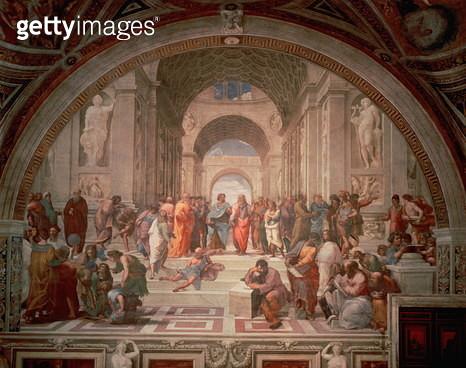 School of Athens, 1510-11 (fresco) - gettyimageskorea