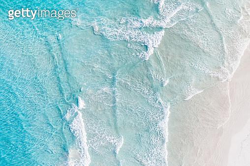 Aerial view of ocean and a beach, Esperance, Australia - gettyimageskorea
