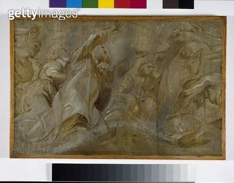 <b>Title</b> : The Sacrifice of Noah (oil on panel)<br><b>Medium</b> : oil on panel<br><b>Location</b> : Ashmolean Museum, University of Oxford, UK<br> - gettyimageskorea