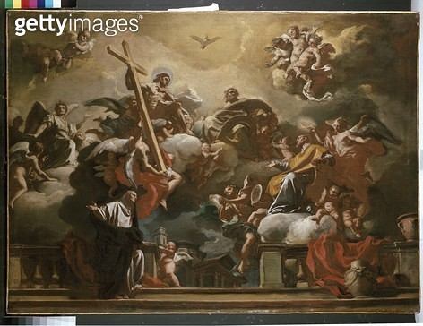 Vision of the Trinity with SS. Philip Neri and Francesca Romana/ 18th century (oil on canvas) - gettyimageskorea