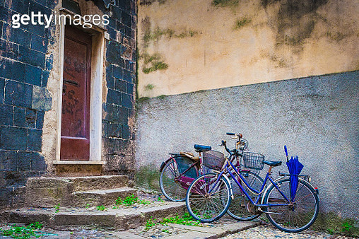 Bicycles in Sienna - gettyimageskorea
